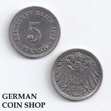 GERMANY 5 Pfennig 1890-1915 A D E F G J-per favore seleziona/Please Select