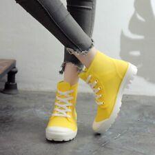 Women Rain Boots Ankle Platform Waterproof Non-Slip Spring Autumn Shoes Casual