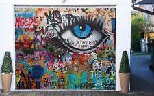 3D Eye Graffiti Wall 42 Garage Door Murals Wall Print Wall AJ WALLPAPER UK Lemon