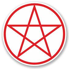2 x 10cm Pentagram Symbol Vinyl Sticker iPad Laptop Pagan Christian Sign #5248