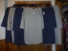 Long Sleeve Pull On Dresses GAP XL,L,M,S,Light Grey,Heather Blue 2 side pockets