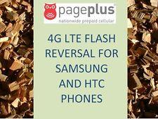 PAGE PLUS 4G LTE FLASH REVERSAL UNFLASH REPROGRAM SAMSUNG HTC PAGEPLUS