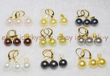 wholesale Beautiful 9 Set 10mm Multicolor Shell Pearl Earring Pendant  Set AAA