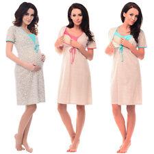 Purpless Small Hearts Spots and Plain Print Maternity & Nursing Nightdress 4044n