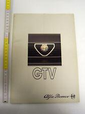 DEPLIANT ORIGINALE ALFA GTV 6  IN INGLESE ALFETTA  ALFA ROMEO 75