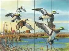 Duck Tile Backsplash Mike Brown Wildlife Art Ceramic Mural MBA003