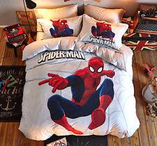 Spiderman Set Letto Copri Piumone Copripiumino Lenzuolo Duvet Cover Set SERDU01