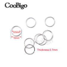 3/8''(10mm) Nickel Double Loop Split Open Jump Key Rings Connector O Ring