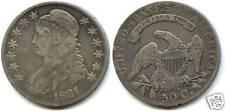 USA REPUBLIQUE 50 CENTS ARGENT LIBERTY CAP 1831 !!!!!!!