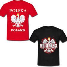 UEFA WM 2018 POLSKA Polen T-Shirt Polnische Flagge Polens Fußball Fan