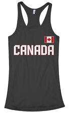 Threadrock Women's Canada National Team Racerback Tank Top canadian flag