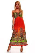 Womens Summer Bandeau Holiday Party Beach Evening Long Maxi Dress size 8 10 12