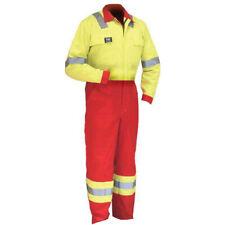 Wenaas Men FR Coverall 2 Tone Hi Vis Fire Resistant Overall Work Zip Boiler Suit