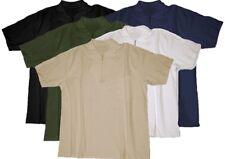 Grande taille!!! Designer Polo T-shirt nuptiale avec zip & sac en 5 Couleurs 3xl