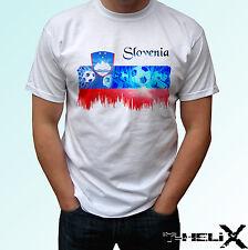 Slovenia football flag - white t shirt top design - mens womens kids baby sizes