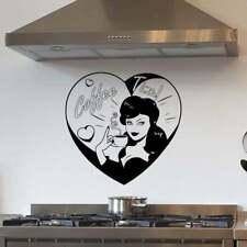 Pin Up Coffee Time Kitchen Wall Sticker Decal Transfer Design Home Matt Vinyl UK