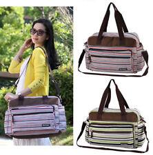 New Stripe 3Pcs Baby Changing Diaper Nappy Mummy Bag Shoulder Bag Handbag 3Color