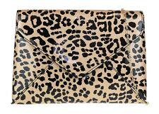 Oversized Leopard Print Clutch Bag Animal Handbag Evening Party Ladies