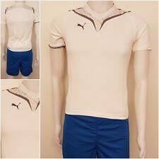 Puma Kinder Trikot und Short Set Fußball Sport Shirt Jersey Hose weiß blau O
