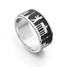 """DUR Schmuck Ring """"Berlin"""" Nachtring Lavasand Silber 925/-  rhodiniert (R4779)"""