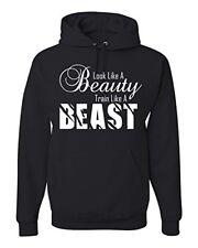 Gym Motivation Look Like Beauty Train Like A Beast Unisex Hooded Sweatshirt