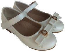 New Girls White Elsie Princess Shoes (Au sz9-12) appx4-6yrs EU26-30 ballet flats