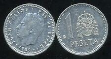 ESPAGNE  1 pesetas 1989  ( bis )