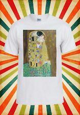 Der Kuss Gustav Klimt Ölgemälde Männer Frauen Weste Tank Top Unisex T Shirt 1723