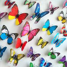 Schmetterlinge 3D Wandtattoo Wandsticker 12 Stück Set Wanddeko