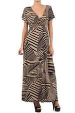 Women's Sexy Plus Dress Crisscross bodice babydoll Maxi Geometric Print 1X 2X 3X