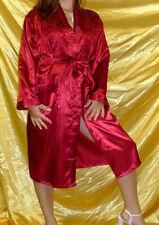 Kristall Glanz Satin Kimono / Morgenmantel Gr. 38 40 42 Nachtwäsche Dessous Neu