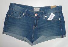 Womens AEROPOSTALE Medium Wash Denim Jean Shorty Shorts NWT #0577