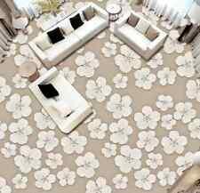 3D fiore bianco terra Pavimento Foto Wallpaper Murales Muro Stampa Decalcomania