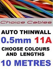 10m De 0,5 mm 12v Auto Cable De 11 A 16/0.2 coche barco Telar de alambre thinwall Automotriz