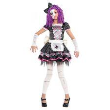Broken Doll Costume Kids Creepy Porcelain Doll Halloween Fancy Dress