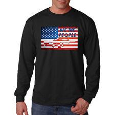 We The People Usa Flag Rifle Gun 2nd Amendment America Long Sleeve T-Shirt Tee