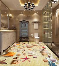 3D Starfish Shells 42 Floor WallPaper Murals Wall Print 5D AJ WALLPAPER UK Lemon