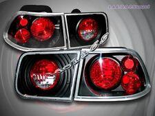 1996-2000 Honda Civic Tail Lights JDM Black 2 DR Coupe 97 98 99