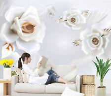 3D Rose Délicat 442 Photo Papier Peint en Autocollant Murale Plafond Chambre Art