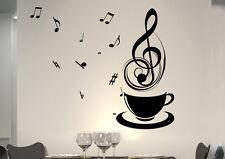 wkf24 WandTattoo Wandsticker WandSpruch CAFE COFFEE KAFFEE  KÜCHE Music Noten