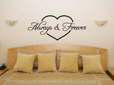 ALWAYS FOREVER Corazón Dormitorio Cuarto De Estar Comedor ADHESIVO pared imagen