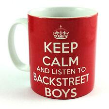 NEW KEEP CALM AND LISTEN TO BACKSTREET BOYS GIFT MUG CUP CARRY ON PARODY RETRO