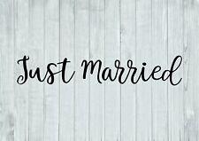 Just Married Inspired Design Wedding Hearts Wall Art Decal Vinyl Sticker