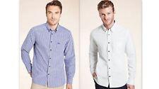 Mens Shirt Casual Slim Fit Premium Pure Cotton Long Sleeve Button-Down