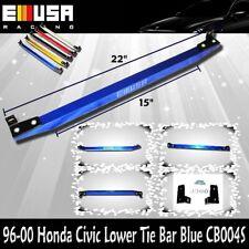 EMUSA ower Tie Bar FOR 1996 1997 1998 1999 2000 Honda Civic BLUE NEW @-@