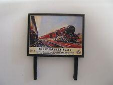 LMS Scot Passes Scot - Model Railway Billboard - N & OO Gauge