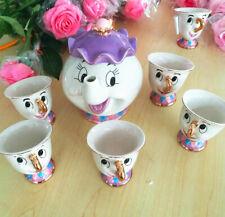 Cartoon Beauty And The Beast Tea Set Mrs Potts Chip Cup Cartoon Teapot Tea Set