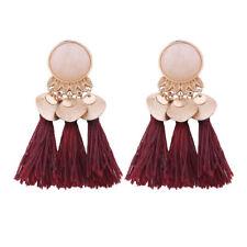 Seaside vintage Womens Tassel Earrings Dangle Alloy Resin Bohemian Pendant