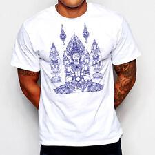 Muay Thai T-Shirt Thai Boxing Buddha Yoga Hinduism Karma Zen Meditation Yin Yang