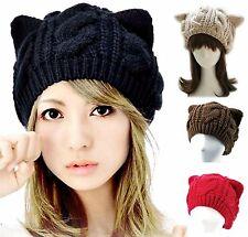 "New -  Winter Fashion - Woman's Cute Knit ""KITTY CAT EARS HAT"", Cap - 4 Colors"